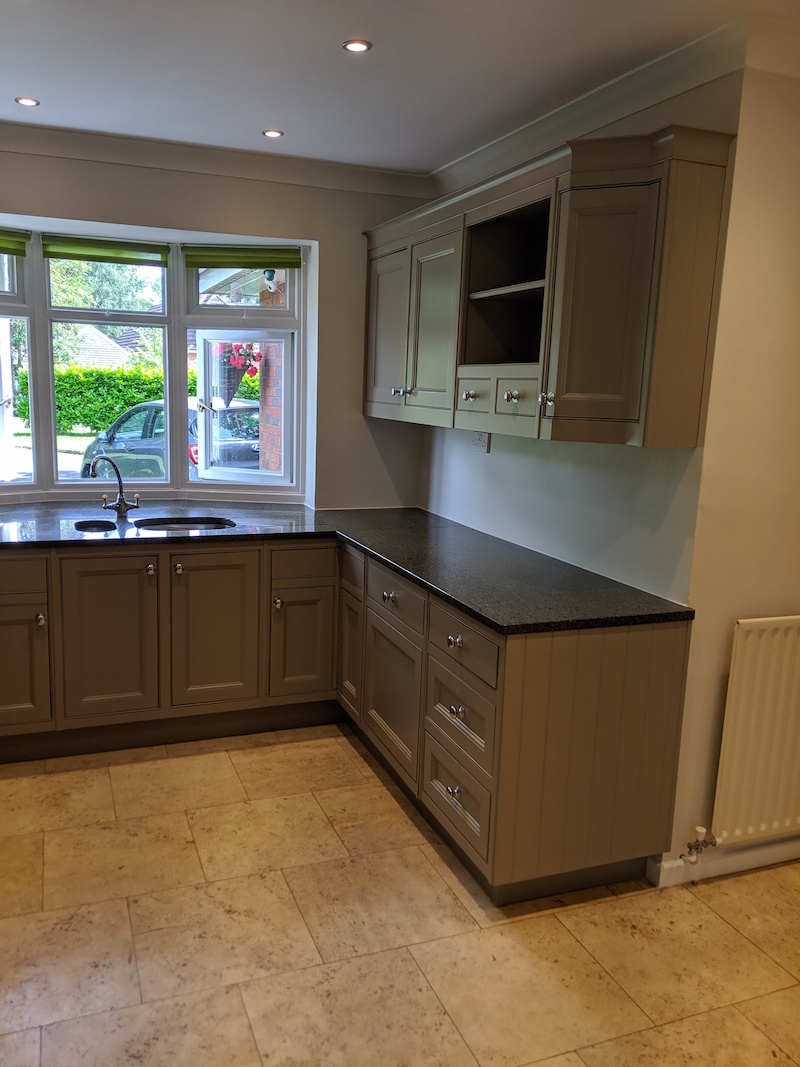 hand painted kitchen in the W Midlands