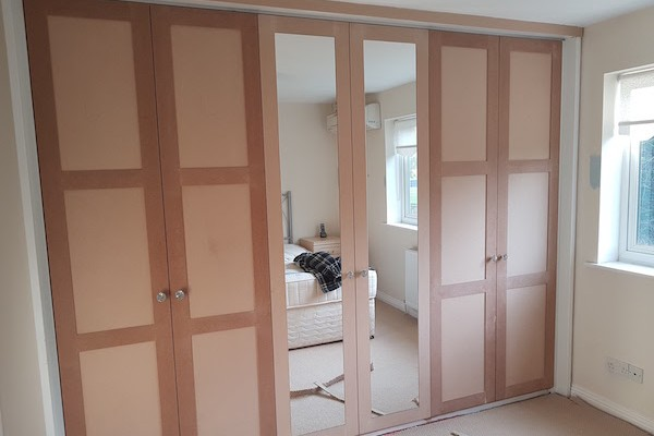 Fitted wardrobes before paint
