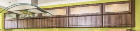 Painting glass door panels in a  kitchen in Belton