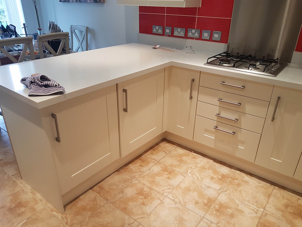 finished hand painted kitchen