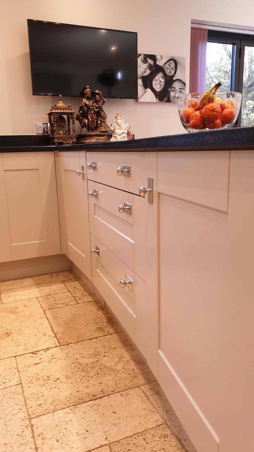 Tikkurila Helmi furniture enamel will do well in a kitchen environment