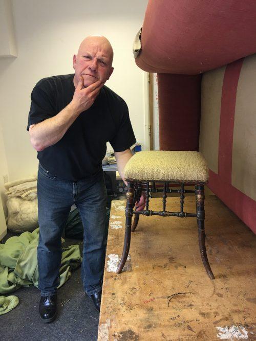 reupholster a German stool