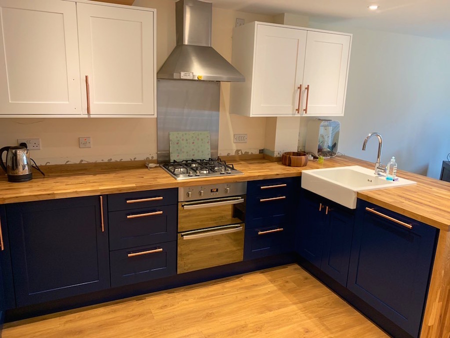 A finished Cringleford Coppers Kitchen