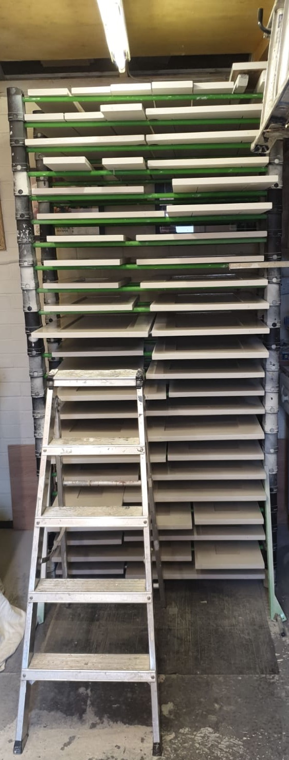 erecta racking stacked out with doors