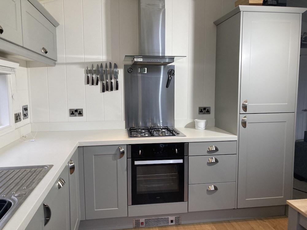 painted kitchen in The Warren in Abersoch N Wales