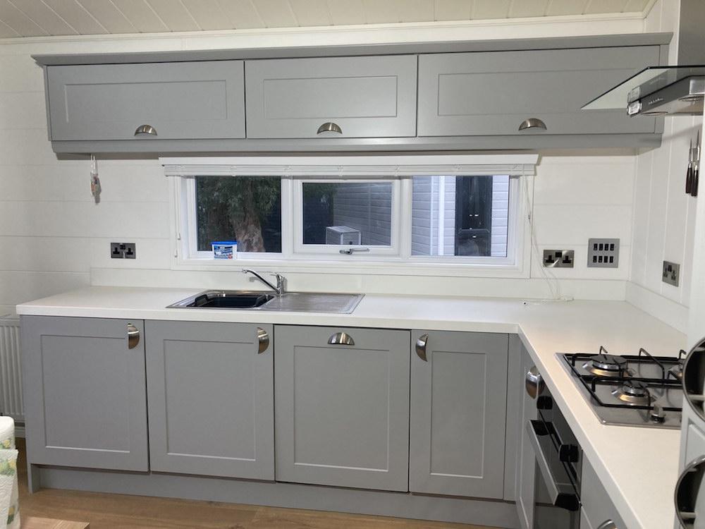 painted kitchen in Abersoch, The Warren