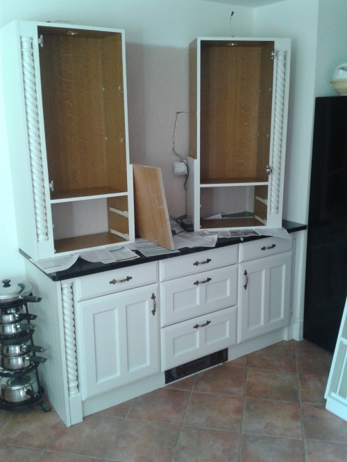 dismantled and sprayed dresser