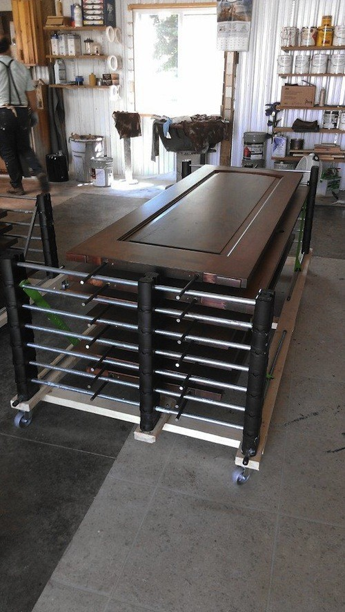 stack heavy doors erecta rack