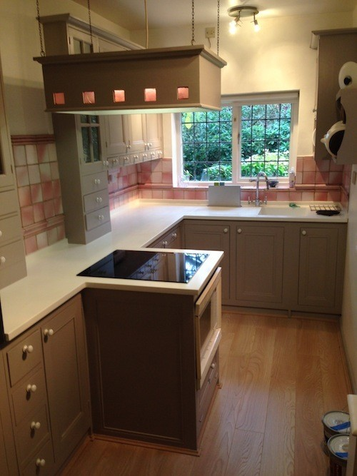 repainted kitchen Worcestershire