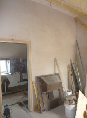 The bedroom and ensuite before painting began