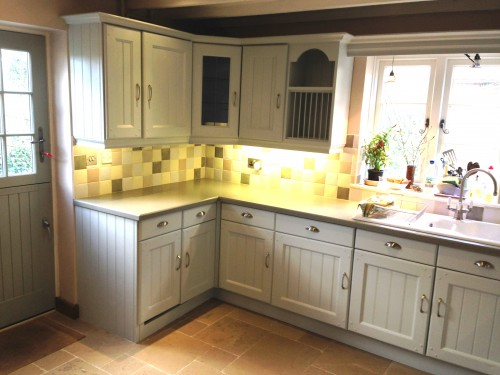 Pearl painted oak kitchen