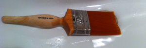 "2.5"" Fox paintbrush outperforms Picasso for long straight cuts in emulsion"