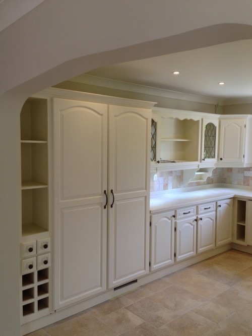 after cherry painted kitchen alcro