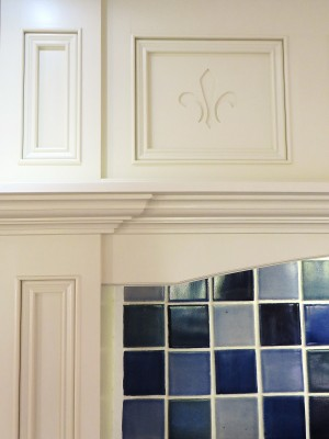 The mantel panels with the 'designer' gap