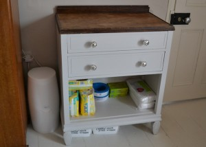 Hand-painted-baby-changing-unit