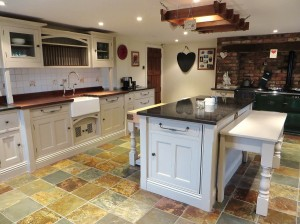 The finished hand painted pine kitchen York