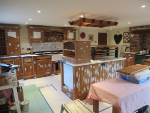 Hand Painted Pine Kitchen York Traditional Painter