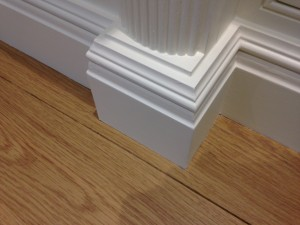 painted fluted column