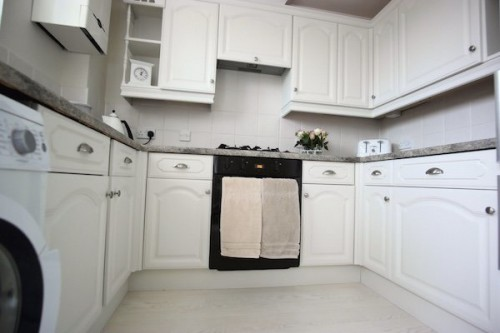 white painted oak kitchen